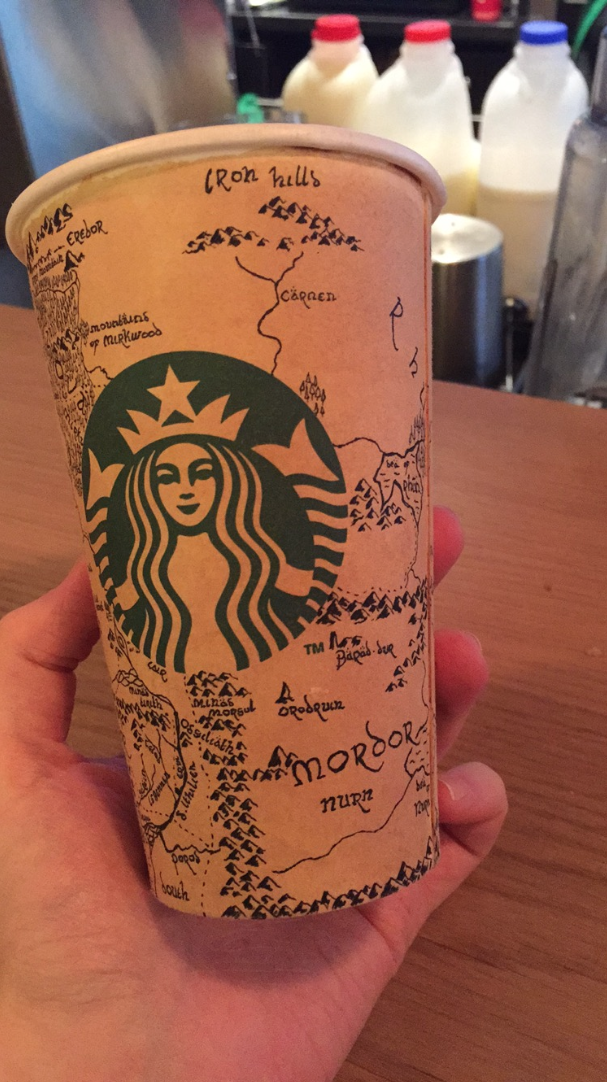 Starbucks Customer drew a Beautiful Map on Cup