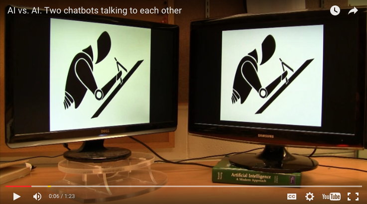 2 Chat Robots Talking to Each Other will Make you Laugh or Creep You Out!