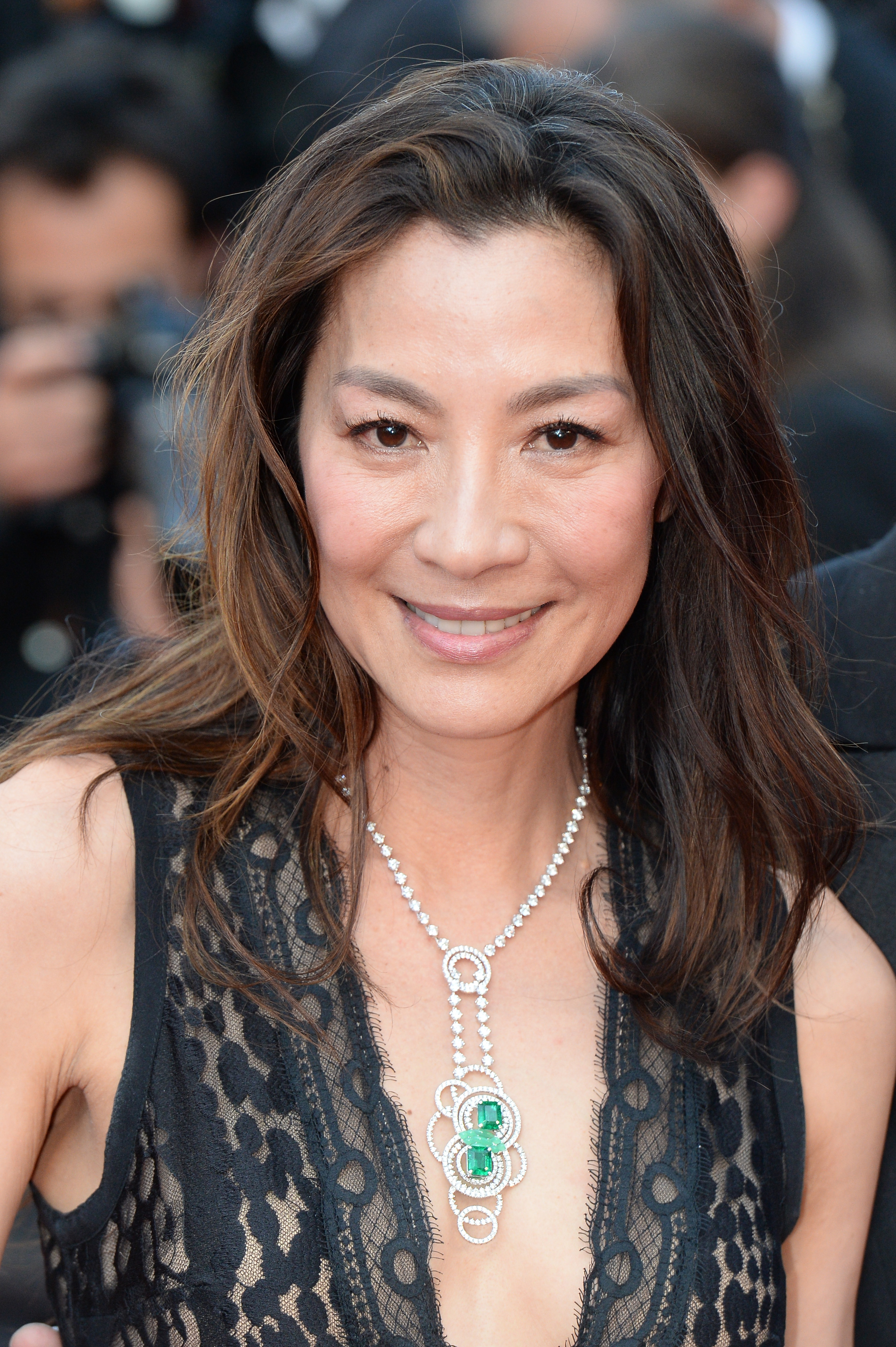 """CANNES, FRANCE - MAY 17: Michelle Yeoh attends the """"Julieta"""" premiere during the 69th annual Cannes Film Festival at the Palais des Festivals on May 17, 2016 in Cannes, France. (Photo by Stephane Cardinale - Corbis/Corbis via Getty Images)"""