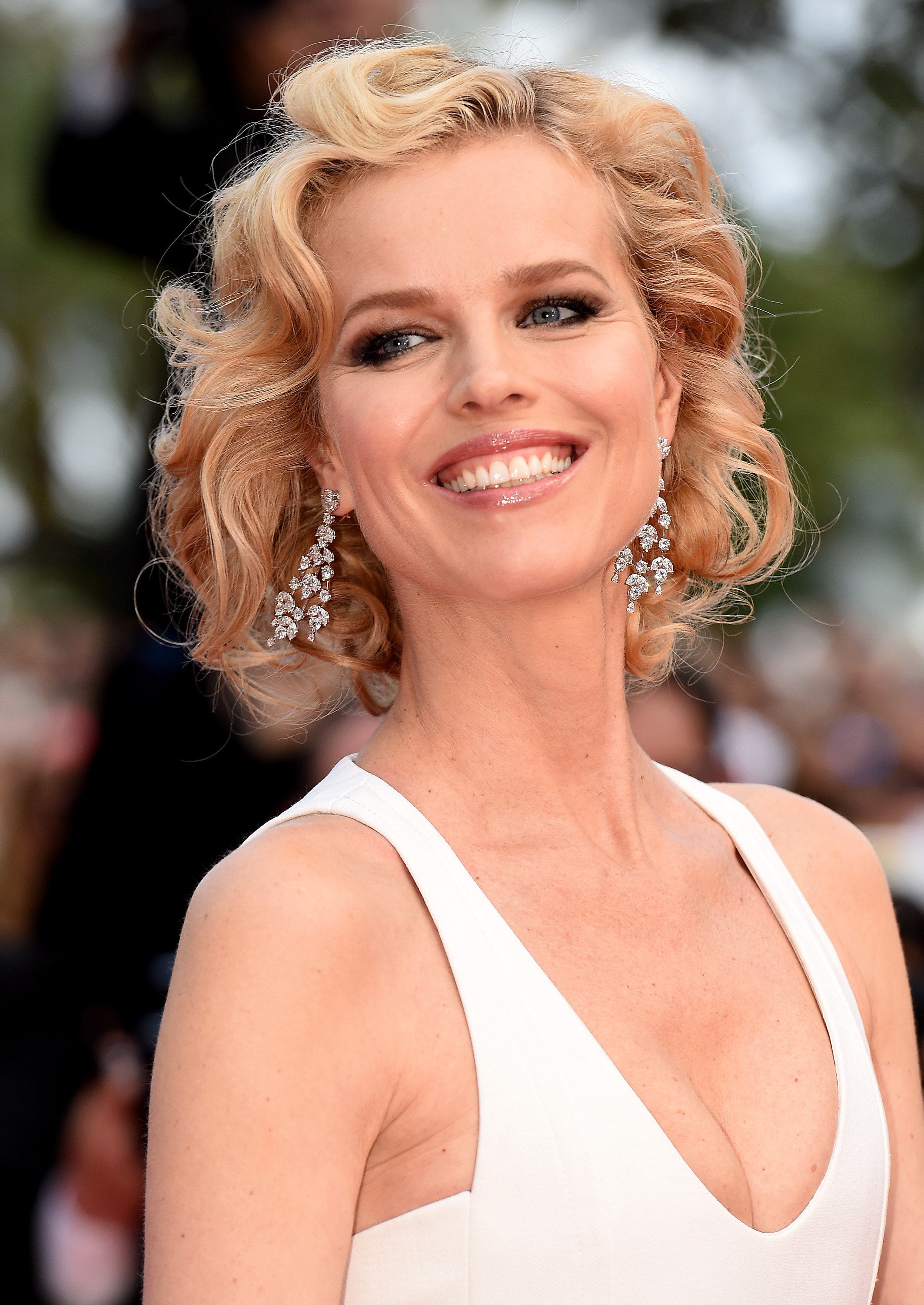 """CANNES, FRANCE - MAY 18: Model Eva Herzigova attends """"The Unknown Girl (La Fille Inconnue)"""" Premiere during the 69th annual Cannes Film Festival at the Palais des Festivals on May 18, 2016 in Cannes, France. (Photo by Stephane Cardinale - Corbis/Corbis via Getty Images)"""