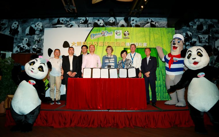 Ocean Park and Sichuan Forestry Department Jointly Presents Sichuan Week, Giant Panda Art Global Exhibition Kick-off in Hong Kong