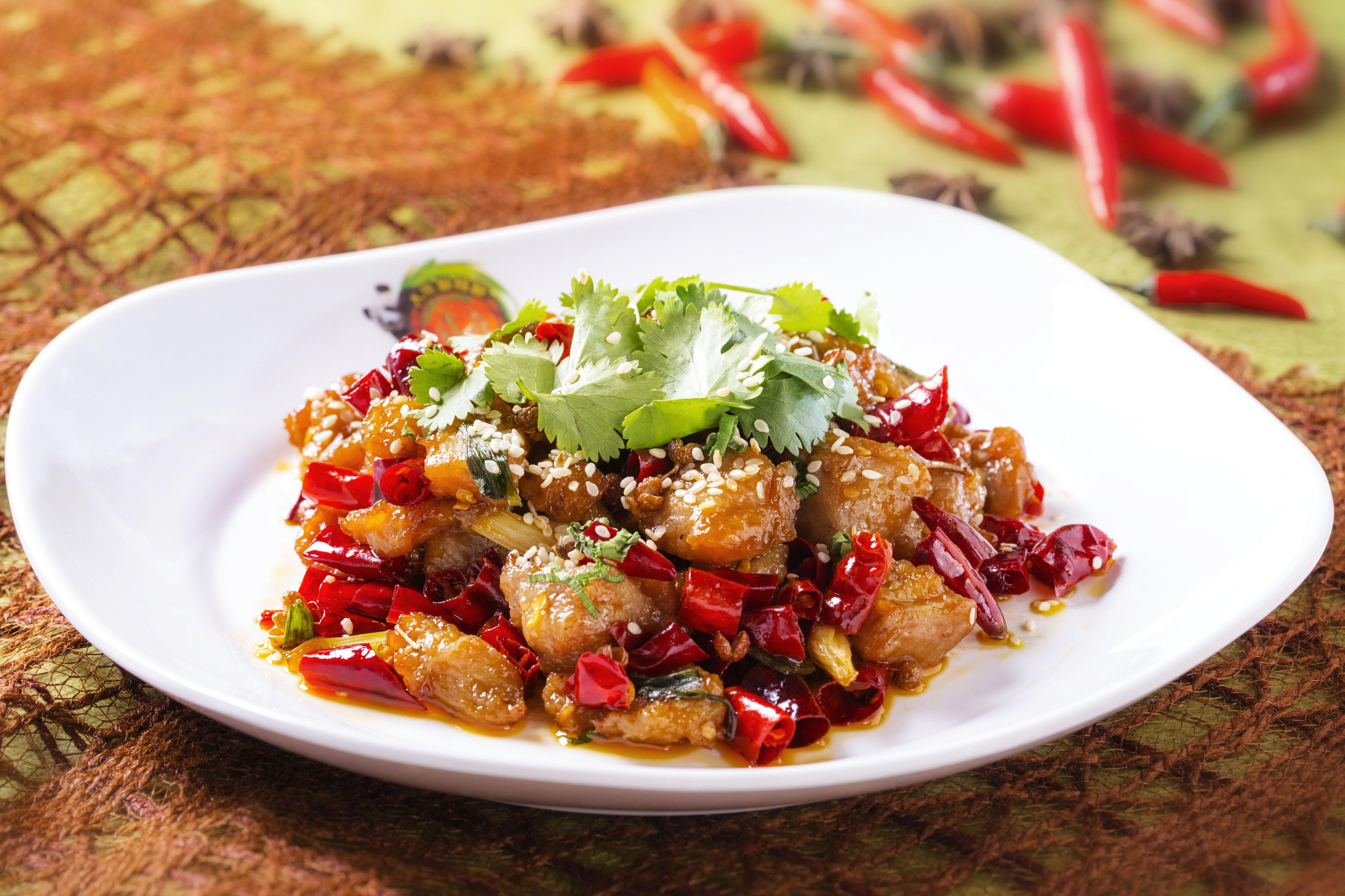 Sauteed Diced Chicken with Chili and Pepper in Sichuan Style